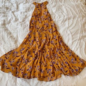 Urban outfitters mustard colored dress